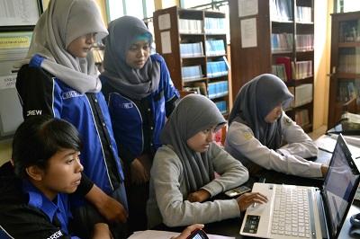 Aktifitas Pengunjung Perpustakaan SMK